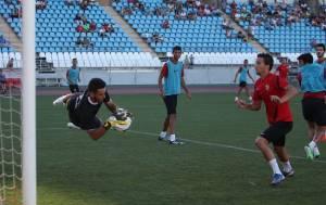El Almería ultima su preparación frente al segundo equipo y el juvenil