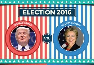 Hillary Clinton x Donald Trump nas eleições americanas 2016