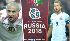 TERMINATA | Tunisia-Inghilterra in diretta, Mondiali Russia 2018 LIVE (1-2): FENOMENALE HARRY KANE!