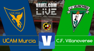 Resultado UCAM Murcia - Villanovense en Segunda División B 2015 (2-1)