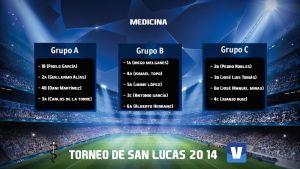 Fase de Grupos y Calendario de la primera jornada de San Lucas 2014