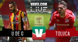 Resultado y goles del Leones Negros 0-2 Toluca de la Copa MX 2017