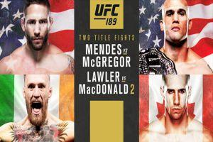 UFC189: McGregor et Mendes s'allument avant l'heure !
