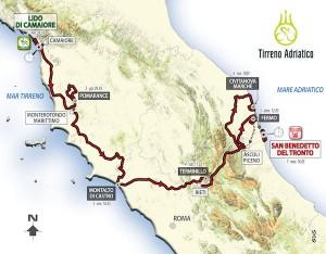 Tirreno-Adriatico 2017, svelato il percorso