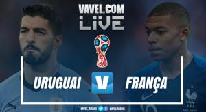 Resultado Uruguai x França (0-2), pelas quartas de final da Copa do Mundo