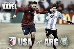 Previa Estados Unidos - Argentina: Primer boleto a New Jersey