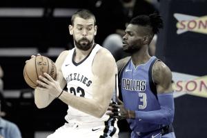 NBA - La doppia-doppia di Gasol guida i Memphis Grizzlies alla vittoria sui Dallas Mavericks