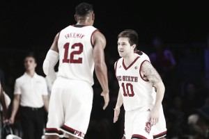 NCAA Basketball: Battle 4 Atlantis quarterfinal: N.C. State shocks Arizona 90-84
