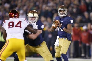Notre Dame Fighting Irish Take Down USC Trojans 41-31 At A Sold Out Notre Dame Stadium