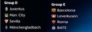 Juventus y AS Roma, sin demasiada suerte para la fase de grupos