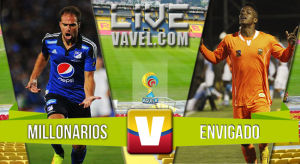 Resultado Millonarios - Envigado en de ida de cuartos de la Liga Águila 2015 (4-0)