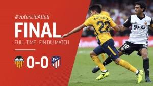 L'Atlético et Valence se neutralisent