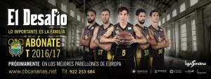 El CB Canarias presenta 'El desafío', su campaña de abonos para la temporada 2016/17
