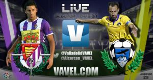 Resultado Real Valladolid - Alcorcón en la jornada 25 de la Liga Adelante ( 1-0)
