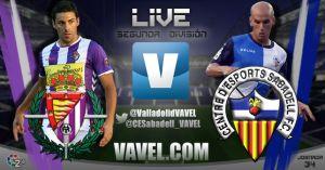 Real Valladolid - CE Sabadell en directo online en la Liga Adelante 2015