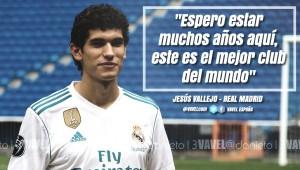 """Jesús Vallejo, presentado: """"Espero estar muchos años, porque es el mejor club del mundo"""""""