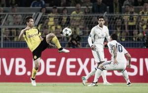 James Rodríguez e Varane festejam desempenho individual após empate do Real Madrid na UCL