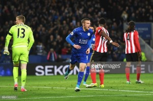 Leicester City 2-0 Sunderland: Foxes make it six in a row as Slimani and Vardy condemn doomed Wearsiders
