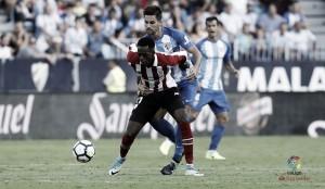 Málaga busca empate no fim contra Bilbao e soma primeiro ponto no Espanhol