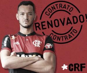 Capitão, Réver renova com Flamengo por mais dois anos e meio