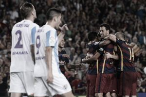 Barcelona 1-0 Malaga: First home league victory for the treble winners