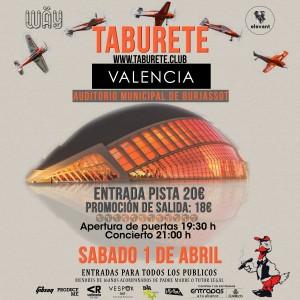 Taburete coge fuerza para tres actuaciones seguidas en Murcia, Alicante y Valencia