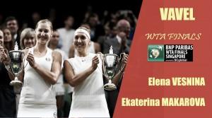 WTA Finals 2017. Elena Vesnina y Ekaterina Makarova: dispuestas a defender su corona