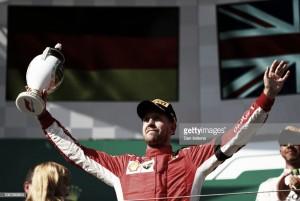 """Vettel: """"Esta segunda posición no es lo que esperaba"""""""