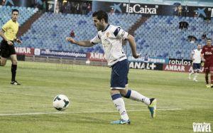 Varios futbolistas del Real Zaragoza, en la rampa de salida