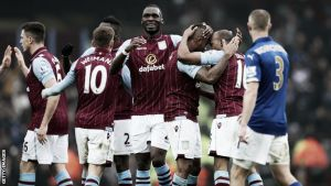 Aston Villa 2-1 Leicester City: Crazy second half sees Villa onto the last eight of FA Cup