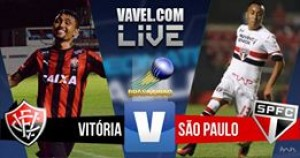 Resultado Vitória x São Paulo no Campeonato Brasileiro (2-0)