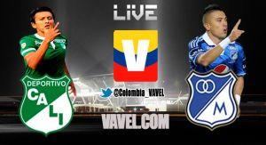Deportivo Cali vs Millonarios, Liga Postobón en vivo y en directo online