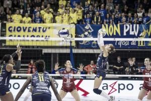 Volley, Serie A1 femminile - Sesto successo in fila per Conegliano: vittoria per 3-1 contro Bergamo