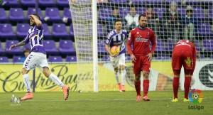 Roger salva los muebles al Real Valladolid