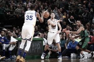 Durant y Thompson lideran la victoria de los Warriors ante los Celtics