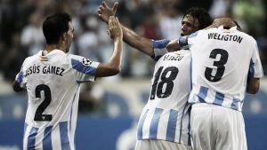 Weligton iguala a Jesús Gámez en partidos con el Málaga en Primera