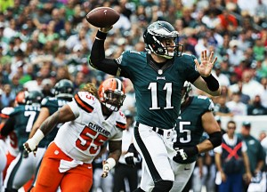 Carson Wentz shines in NFL debut as Philadelphia Eagles defeat Cleveland Browns