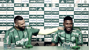 Apresentados no Palmeiras, Emerson Santos e Weverton pregam disputa por titularidade