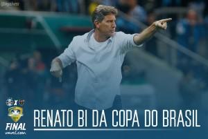 Renato Gaúcho se torna segundo técnico bicampeão da Copa do Brasil