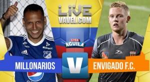 Millonarios derrotó 1-0 a Envigado y llega con vida al clásico bogotano (1-0)