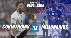 Previa Corinthians - Millonarios: A Brasil por la clasificación