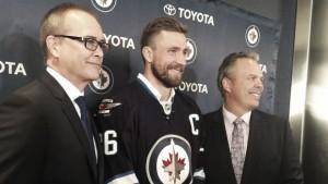 Blake Wheeler, nuevo capitán de los Winnipeg Jets
