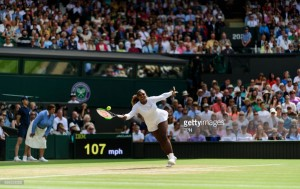Wimbledon 2018: Serena Williams powers into her 10th Wimbledon final with straight set win over Goerges