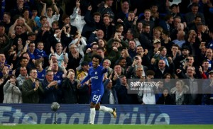 Chelsea 2-1 Everton: Blues advance to League Cup last eight over Unsworth's Toffees