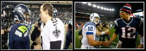 La Previa del sábado de Ronda Divisional; Saints en Seattle y Colts en New England