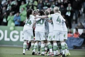 VfL Wolfsburg Frauen 4-0 1. FFC Frankfurt: Wolves secure sizeable first-leg lead