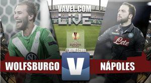 Resultado Wolfsburgo vs Nápoles en la Europa League 2015 (1-4)
