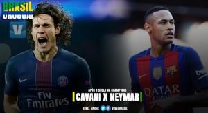 Cavani x Neymar: atacantes se reencontram após Champions League