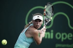 Wozniacki derrotó a Kanepi y avanza en Miami