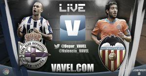 Deportivo de la Coruña vs Valencia en vivo y en directo online